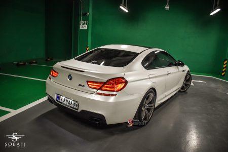 BMW 640i Coupe White Matte Sobati Customs