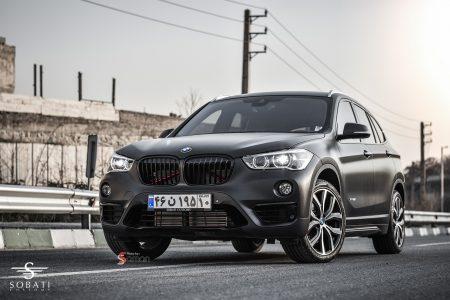 BMW X1 Black Matte Sobati Customs