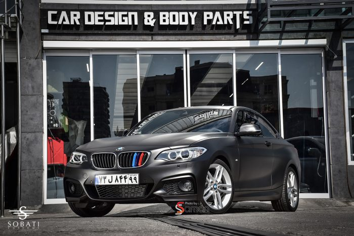 BMW 220i Coupe Black Matte Sobati Customs