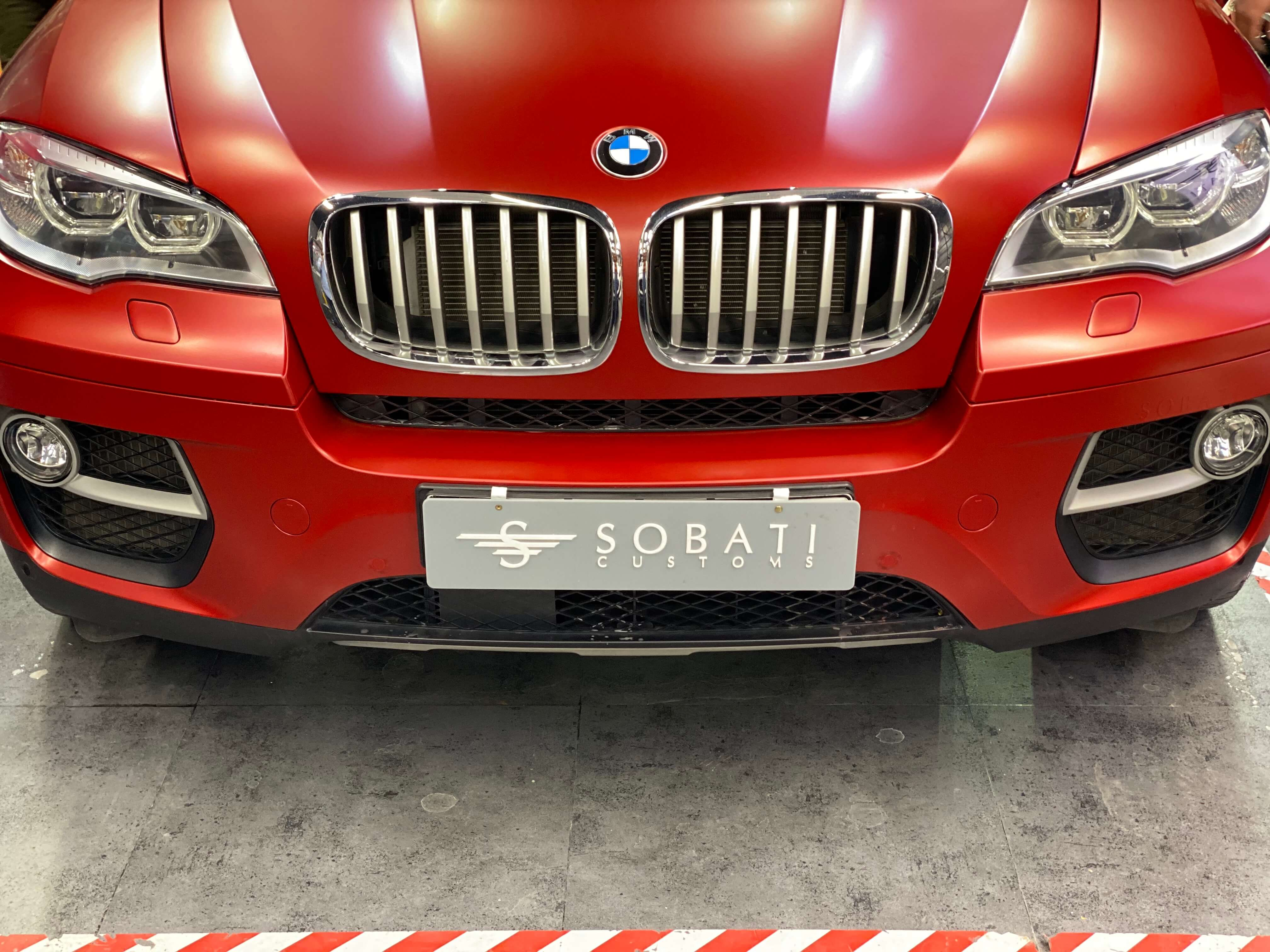 Bmw X6 Red Matte Sobati Customs