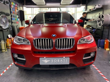 BMW X6 Red Matte Sobati Customs