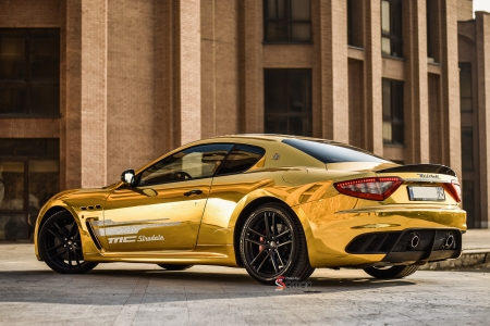 Gold Chrome Maserati GranTurismo MC Stradale Sobati Customs