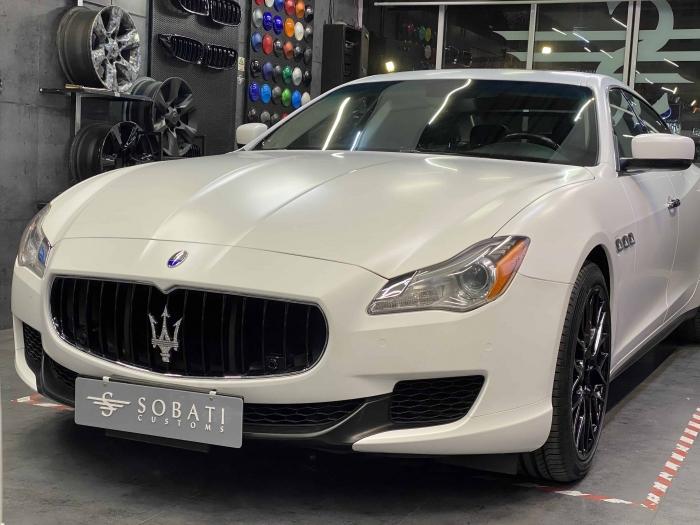 Maserati Quattroporte White Satin Sobati Customs